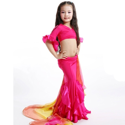 2015-New-Belly-Dance-Tops-2-Pieces-Top-Dress-Egyptian-Belly-Dance-Costume-Children-Kids-Girls