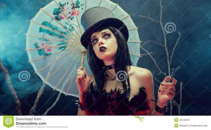 attractive-gothic-girl-top-hat-chinese-umbrella-looking-28139976